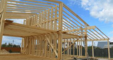 Строительство каркасного дома из бруса