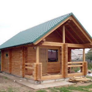 Как построить баню из клееного бруса?