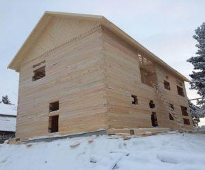 Как построить брусовый дачный дом