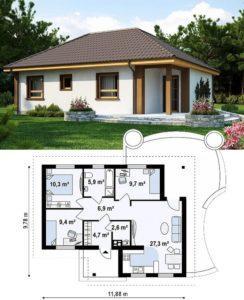 Как составить проект одноэтажного дома?