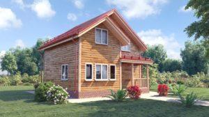 Этапы строительства дома 8 на 8