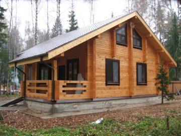 дом из брус в стиле шале