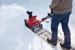 Основные параметры снегоуборщика