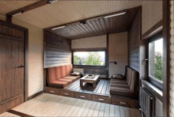 обшивка дома имитацией бруса