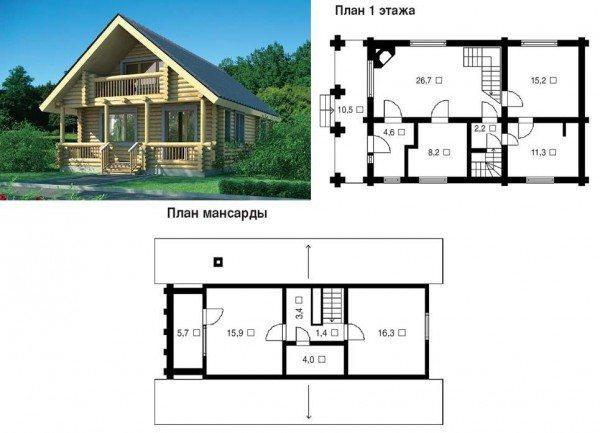 Проекты домов 8 на 8 из пеноблоков