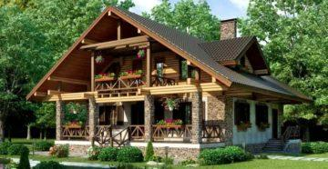 Проекты домов из пеноблоков с масандрой