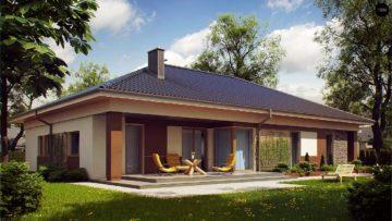Проекты одноэтажных домов из пеноблоков