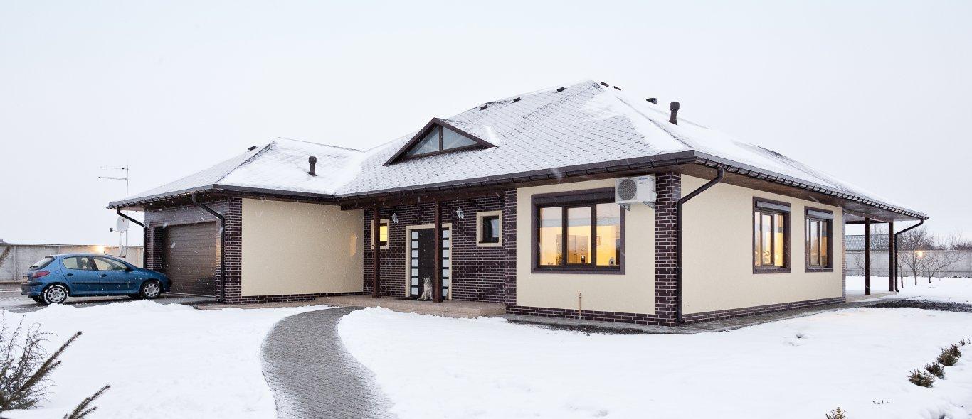 зимний каркасный дом